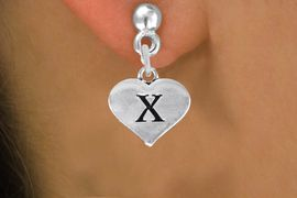 <BR>                          NICKEL FREE !<br>                     INITIAL EARRING <bR>                  EXCLUSIVELY OURS!! <Br>             AN ALLAN ROBIN DESIGN!! <BR>                LEAD & NICKEL FREE!! <BR>  W1669SE - SILVER TONE HEART SHAPED <br>    SCRIPT ALPHABET INITIAL CHARM ON <Br>   POST EARRINGS FROM $4.50 TO $8.35