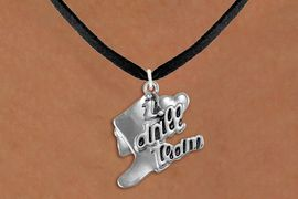 """<br>      WHOLESALE FASHION DANCE JEWELRY  <bR>                   EXCLUSIVELY OURS!!  <BR>              AN ALLAN ROBIN DESIGN!!  <BR>        CADMIUM, LEAD & NICKEL FREE!!  <BR>    W1671SN - DETAILED 3D SILVER TONE  <BR>""""I LOVE DRILL TEAM"""" BOOT & HEART CHARM  <BR>  ON BLACK SUEDE LEATHERETTE NECKLACE  <BR>             FROM $4.85 TO $8.30 �2015"""