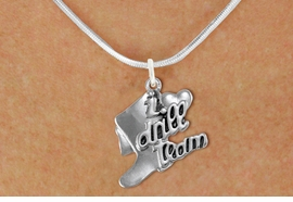 "<br>                    DRILL TEAM JEWELRY  <bR>                   EXCLUSIVELY OURS!!  <BR>              AN ALLAN ROBIN DESIGN!!  <BR>        CADMIUM, LEAD & NICKEL FREE!!  <BR>    W1671SN - DETAILED 3D SILVER TONE  <BR>""I LOVE DRILL TEAM"" BOOT & HEART CHARM  <BR> ON LOBSTER CLASP SNAKE CHAIN NECKLACE  <BR>                            $9.68 EACH �2015"