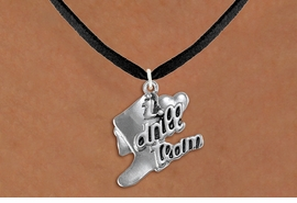 "<br>      WHOLESALE FASHION DANCE JEWELRY  <bR>                   EXCLUSIVELY OURS!!  <BR>              AN ALLAN ROBIN DESIGN!!  <BR>        CADMIUM, LEAD & NICKEL FREE!!  <BR>    W1671SN - DETAILED 3D SILVER TONE  <BR>""I LOVE DRILL TEAM"" BOOT & HEART CHARM  <BR>  ON BLACK SUEDE LEATHERETTE NECKLACE  <BR>             FROM $4.85 TO $8.30 �2015"