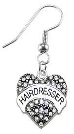 <BR>    WHOLESALE HAIRDRESSER FASHION EARRING  <bR>                      EXCLUSIVELY OURS!!  <Br>                 AN ALLAN ROBIN DESIGN!!  <BR>           LEAD, NICKEL & CADMIUM FREE!!  <BR>      W1675SE1 - ANTIQUED SILVER TONE AND  <BR>CLEAR CRYSTAL HAIRDRESSER CHARM  <BR>     ON SURGICAL STEEL FISHHOOK EARRINGS <BR>              FROM $5.40 TO $10.45 �2015