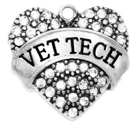 1682SC - Vet Tech Genuine Crystal Heart, Hypoallergenic-Safe Nickel, Lead, Cadmium Free, � 2015  $3.68 Each