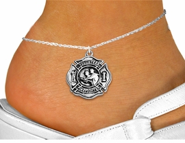 "<bR>     WHOLESALE FIREFIGHTER JEWELRY  <BR>                EXCLUSIVELY OURS!!  <BR>           AN ALLAN ROBIN DESIGN!!  <BR>     LEAD, NICKEL & CADMIUM FREE!!  <BR>W1716SA1 - SILVER TONE SHIELD WITH <BR>  ""VOLUNTEER FIREFIGHTER"" CHARM ON <Br>  ANKLET FROM $4.35 TO $9.00 �2015"