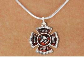 "<BR>     WHOLESALE FASHION FIRE SHIELD JEWELRY  <bR>                        EXCLUSIVELY OURS!!  <Br>                   AN ALLAN ROBIN DESIGN!!  <BR>          CLICK HERE TO SEE 1000+ EXCITING  <BR>                CHANGES THAT YOU CAN MAKE!  <BR>             LEAD, NICKEL & CADMIUM FREE!!  <BR> W1719SN2 - SILVER TONE AND RED EPOXY WITH  <BR>CRYSTAL ACCENTS ""FIRE WIFE"" SHIELD CHARM ON  <BR>  SILVER TONE LOBSTER CLASP SNAKE CHAIN NECKLACE  <BR>                  FROM $5.40 TO $9.85 �2015"