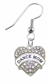 <BR>             DANCE MOM FASHION EARRING  <bR>                      EXCLUSIVELY OURS!!  <Br>                 AN ALLAN ROBIN DESIGN!!  <BR>           NICKEL,   LEAD, & CADMIUM FREE!!  <BR>                W1726E1 -  SILVER TONE AND  <BR>          CLEAR CRYSTAL DANCE MOM CHARM  <BR>     ON SURGICAL STEEL FISHHOOK EARRINGS <BR>                              $10.38 EACH �2015