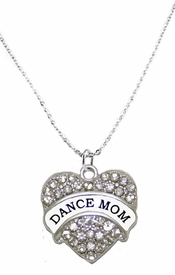 <BR>                            DANCE MOM JEWELRY  <bR>                              EXCLUSIVELY OURS!!  <Br>                         AN ALLAN ROBIN DESIGN!!  <BR>                  NICKEL, LEAD, & CADMIUM FREE!!  <BR>              W1726N1- BEAUTIFUL SILVER TONE AND  <BR>                       CLEAR CRYSTAL DANCE MOM<BR>          CHARM ON LOBSTER CLASP CHAIN NECKLACE  <BR>                                  $9.38 EACH �2015