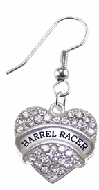 <BR>    WHOLESALE BARREL RACER FASHION EARRING  <bR>                      EXCLUSIVELY OURS!!  <Br>                 AN ALLAN ROBIN DESIGN!!  <BR>           NICKEL,  LEAD, & CADMIUM FREE!!  <BR>      W1727E1 - BEAUTIFUL SILVER TONE AND  <BR>CLEAR CRYSTAL BARREL RACER CHARM  <BR>     ON SURGICAL STEEL FISHHOOK EARRINGS <BR>              FROM $5.40 TO $10.45 �2015