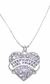<BR>   WHOLESALE FASHION FIREFIGHTER'S GIRLFRIEND JEWELRY  <bR>                              EXCLUSIVELY OURS!!  <Br>                         AN ALLAN ROBIN DESIGN!!  <BR>                    NICKEL, LEAD, & CADMIUM FREE!!  <BR>              W1728SN1- BEAUTIFUL SILVER TONE AND  <BR>                       CLEAR CRYSTAL FIREFIGHTER's GIRLFRIEND<BR> CHARM ON LOBSTER CLASP CHAIN NECKLACE  <BR>                       FROM $5.40 TO $9.85 �2015
