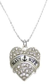 """<BR>      """"NAVY WIFE""""  EXCLUSIVELY OURS!!   <Br>               AN ALLAN ROBIN DESIGN!!   <BR>        NICKEL, LEAD & CADMIUM FREE!!   <BR>W1752N1- FROM $5.40 TO $10.45 �2015"""