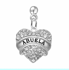 """<BR>                       THE """"PERFECT GIFT""""<BR>       """"ABUELA""""  EXCLUSIVELY OURS!!   <Br>               AN ALLAN ROBIN DESIGN!!   <br>                         HYPOALLERGENIC<BR>        NICKEL, LEAD & CADMIUM FREE!!   <BR>W1759E2 - FROM $5.98 TO $12.85 ©2015"""