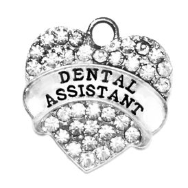 1770SC - Dental Assistant Genuine Crystal Heart Charm, $3.68  �2016