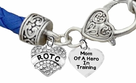 <BR><B>MOM OF A HERO IN TRAINING<br>AIR FORCE  ROTC BRACELET</B><br>      <br></B>GENUINE AIR FORCE BLUE WOVEN LEATHER BRACELET <BR>NICKEL, LEAD, AND POISONOUS CADMIUM FREE<br>W1788-1787B38  $11.68 EACH  �2019
