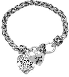<BR><B>ROTC, PROUD MOM, GENUINE CRYSTAL HEART</B><BR><BR>GENUINE ANTIQUE WHEAT CHAIN BRACELET, VINTAGE ANTIQUE <BR>SILVER LOBSTER CLASP, NO NICKEL, NO LEAD, AND<BR> NO POISONOUS CADMIUM W1788-320B1 $11.88 Each  �2018
