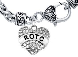 <BR><B> ROTC BRACELET</B><br>     <BR>    GENUINE CRYSTAL CHARM, ANTIQUE WHEAT CHAIN BRACELET<BR>NICKEL, LEAD, AND POISONOUS CADMIUM FREE<br>W1788B1  $11.68 EACH  �2018