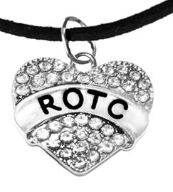 <BR><B> ROTC ADJUSTABLE  BRACELET</B><br>     <BR>    GENUINE CRYSTAL CHARM, ADJUSTABLE BLACK SUEDE BRACELET<BR>NICKEL, LEAD, AND POISONOUS CADMIUM FREE<br>W1788B3  $9.68 EACH  �2018