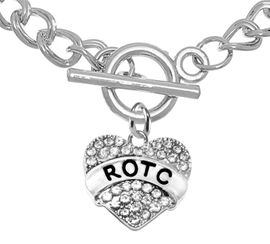<BR><B>GENUINE CRYSTAL ROTC CHARM<br> POSITIONED AT THE TOGGLE<BR>ON A SMALL TOGGLE BRACELET</B><br>      <br></B>NICKEL, LEAD, AND POISONOUS CADMIUM FREE<br>W1788B5  $9.68 EACH    �2018