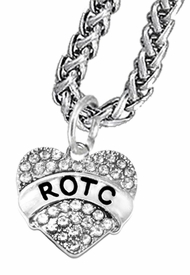 <BR><B> ROTC NECKLACE</B><br>     <BR>    GENUINE CRYSTAL CHARM, ANTIQUE WHEAT CHAIN NECKLACE<BR>NICKEL, LEAD, AND POISONOUS CADMIUM FREE<br>W1788N11  $12.68 EACH  �2018