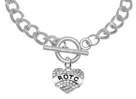 <BR><B>GENUINE CRYSTAL ROTC CHARM<br> POSITIONED AT THE TOGGLE<BR>ON A LARGE TOGGLE NECKLACE</B><br>      <br></B>NICKEL, LEAD, AND POISONOUS CADMIUM FREE<br>W1788N13  $11.68 EACH   �2018