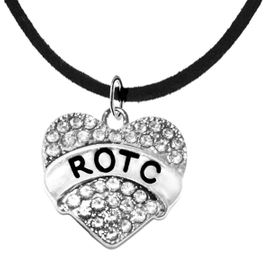 <BR><B> ROTC ADJUSTABLE NECKLACE</B><br>     <BR>    GENUINE CRYSTAL CHARM, ADJUSTABLE BLACK SUEDE NECKLACE<BR>NICKEL, LEAD, AND POISONOUS CADMIUM FREE<br>W1788N3  $9.68 EACH  �2018