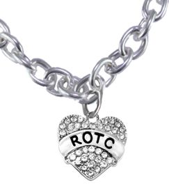 <BR><B>GENUINE CRYSTAL ROTC CHARM<br> POSITIONED AT THE BOTTOM OF CHAIN<BR>ON A LARGE TOGGLE NECKLACE</B><br>      <br></B>NICKEL, LEAD, AND POISONOUS CADMIUM FREE<br>W1788N9  $11.68 EACH  EACH  �2018