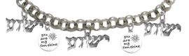 """MESSIANIC , """" YOU ARE MY SUNSHINE """" AND, """" YESHUA """" CHARM BRACELET - ADJUSTABLE<BR>  CLICK HERE TO OPEN, AND CLICK ON PICTURE TO SEE DETAIL<br>    <BR> HYPOALLERGENIC, NICKLE, LEAD, & CADMIUM FREE <BR> 1793-1920-1793-1920-1793B2   $11.83 EACH  �2019"""