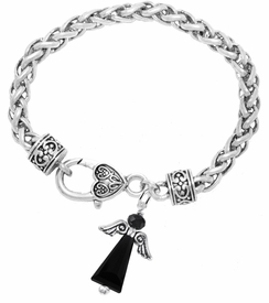 <BR>      WHOLESALE COSTUME ANGEL JEWELRY <BR>                   EXCLUSIVELY OURS!!    <Br>              AN ALLAN ROBIN DESIGN!!    <br>                       HYPOALLERGENIC <BR>         NICKEL, LEAD & CADMIUM FREE!    <BR> W1795B1 - JET CRYSTAL ANGEL CHARM ON <BR>  HEART-SHAPED LOBSTER CLASP BRACELET <BR>           FROM $7.90 TO $12.50 �2015