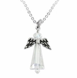 <BR>AURORA BOREALIS CRYSTAL ANGEL JEWELRY   <BR>                   EXCLUSIVELY OURS!!      <Br>              AN ALLAN ROBIN DESIGN!!    <br>                       HYPOALLERGENIC   <BR>         NICKEL, LEAD & CADMIUM FREE!      <BR> W1798N1 - AB CRYSTAL ANGEL CHARMS ON   <BR>      SILVER TONE CHAIN LINK NECKLACE   <BR>           FROM $7.90 TO $12.50 �2015
