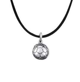 <BR>    WHOLESALE SOCCER FASHION SPORTS JEWELRY    <BR>                         EXCLUSIVELY OURS!!         <Br>                    AN ALLAN ROBIN DESIGN!!        <BR>                             HYPOALLERGENIC      <BR>               NICKEL, LEAD & CADMIUM FREE!         <BR>   W1804N3 - 3D SPHERE SOCCER BALL CHARM ON      <BR>  A BLACK SUEDE NECKLACE WITH LOBSTER CLASP  <BR>                 FROM $6.23 TO $11.75 �2016