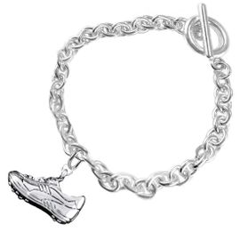 <BR>           WHOLESALE FASHION SPORTS JEWELRY    <BR>                         EXCLUSIVELY OURS!!         <Br>                    AN ALLAN ROBIN DESIGN!!        <BR>                             HYPOALLERGENIC      <BR>               NICKEL, LEAD & CADMIUM FREE!         <BR> W1805B5 - 3D SPORTS CLEAT SNEAKER CHARM ON      <BR>      CHAIN LINK BRACELET WITH TOGGLE CLASP  <BR>                 FROM $6.23 TO $11.75 �2016