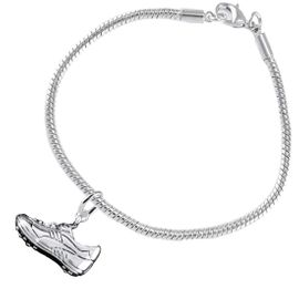 <BR>           WHOLESALE FASHION SPORTS JEWELRY    <BR>                         EXCLUSIVELY OURS!!         <Br>                    AN ALLAN ROBIN DESIGN!!        <BR>                             HYPOALLERGENIC      <BR>               NICKEL, LEAD & CADMIUM FREE!         <BR> W1805B7 - 3D SPORTS CLEAT SNEAKER CHARM ON      <BR>   SNAKE CHAIN BRACELET WITH LOBSTER CLASP  <BR>                 FROM $6.23 TO $11.75 �2016