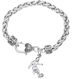 <BR>       WHOLESALE SOCCER TEAM SPORTS JEWELRY    <BR>                         EXCLUSIVELY OURS!!         <Br>                    AN ALLAN ROBIN DESIGN!!        <BR>                             HYPOALLERGENIC      <BR>               NICKEL, LEAD & CADMIUM FREE!         <BR>W1806B1 - 3D KICKING SOCCER PLAYER CHARM ON      <BR>   BRACELET WITH HEART SHAPED LOBSTER CLASP  <BR>                 FROM $6.23 TO $11.75 �2016