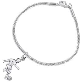 <BR>       WHOLESALE SOCCER TEAM SPORTS JEWELRY    <BR>                         EXCLUSIVELY OURS!!         <Br>                    AN ALLAN ROBIN DESIGN!!        <BR>                             HYPOALLERGENIC      <BR>               NICKEL, LEAD & CADMIUM FREE!         <BR>W1806B7 - 3D KICKING SOCCER PLAYER CHARM ON      <BR>    SNAKE CHAIN BRACELET WITH LOBSTER CLASP  <BR>                 FROM $6.23 TO $11.75 �2016