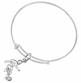 <BR>       WHOLESALE SOCCER TEAM SPORTS JEWELRY    <BR>                         EXCLUSIVELY OURS!!         <Br>                    AN ALLAN ROBIN DESIGN!!        <BR>                             HYPOALLERGENIC      <BR>               NICKEL, LEAD & CADMIUM FREE!         <BR>W1806B9 - 3D KICKING SOCCER PLAYER CHARM ON      <BR>ADJUSTABLE THIN SOLID MIRACLE WIRE BRACELET  <BR>                 FROM $6.23 TO $11.75 �2016