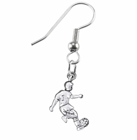 <BR>       WHOLESALE SOCCER TEAM SPORTS JEWELRY    <BR>                         EXCLUSIVELY OURS!!         <Br>                    AN ALLAN ROBIN DESIGN!!        <BR>                             HYPOALLERGENIC      <BR>               NICKEL, LEAD & CADMIUM FREE!         <BR>W1806E1 - 3D KICKING SOCCER PLAYER CHARM ON      <BR>A PAIR OF SURGICAL STEEL FISH HOOK EARRINGS  <BR>                 FROM $6.23 TO $11.75 �2016
