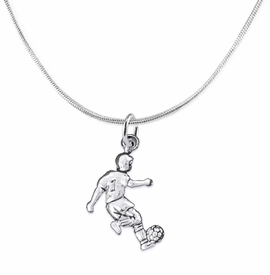 <BR>       WHOLESALE SOCCER TEAM SPORTS JEWELRY     <BR>                         EXCLUSIVELY OURS!!          <Br>                    AN ALLAN ROBIN DESIGN!!         <BR>                             HYPOALLERGENIC       <BR>               NICKEL, LEAD & CADMIUM FREE!          <BR>W1806N2 - 3D KICKING SOCCER PLAYER CHARM ON       <BR>    SNAKE CHAIN NECKLACE WITH LOBSTER CLASP   <BR>                 FROM $6.23 TO $11.75 �2016