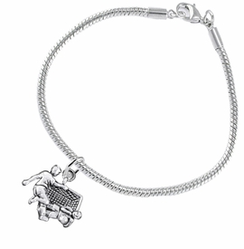 <BR>       WHOLESALE SOCCER TEAM SPORTS JEWELRY     <BR>                         EXCLUSIVELY OURS!!          <Br>                    AN ALLAN ROBIN DESIGN!!         <BR>                             HYPOALLERGENIC       <BR>               NICKEL, LEAD & CADMIUM FREE!          <BR>   W1807B7 - 3D SOCCER GOALIE SAVE CHARM ON       <BR>     SNAKE CHAIN BRACELET WITH LOBSTER CLASP   <BR>                 FROM $6.23 TO $11.75 �2016