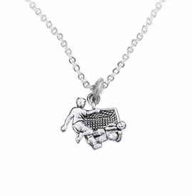 <BR>       WHOLESALE SOCCER TEAM SPORTS JEWELRY      <BR>                         EXCLUSIVELY OURS!!           <Br>                    AN ALLAN ROBIN DESIGN!!          <BR>                             HYPOALLERGENIC        <BR>               NICKEL, LEAD & CADMIUM FREE!           <BR>   W1807N1 - 3D SOCCER GOALIE SAVE CHARM ON        <BR>     CHAIN LINK NECKLACE WITH LOBSTER CLASP    <BR>                 FROM $6.23 TO $11.75 �2016