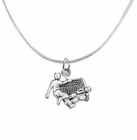 <BR>       WHOLESALE SOCCER TEAM SPORTS JEWELRY      <BR>                         EXCLUSIVELY OURS!!           <Br>                    AN ALLAN ROBIN DESIGN!!          <BR>                             HYPOALLERGENIC        <BR>               NICKEL, LEAD & CADMIUM FREE!           <BR>   W1807N2 - 3D SOCCER GOALIE SAVE CHARM ON        <BR>    SNAKE CHAIN NECKLACE WITH LOBSTER CLASP    <BR>                 FROM $6.23 TO $11.75 �2016