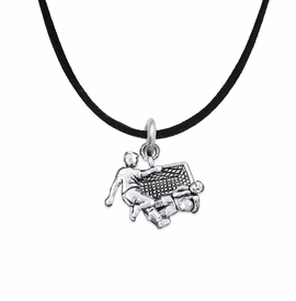<BR>       WHOLESALE SOCCER TEAM SPORTS JEWELRY      <BR>                         EXCLUSIVELY OURS!!           <Br>                    AN ALLAN ROBIN DESIGN!!          <BR>                             HYPOALLERGENIC        <BR>               NICKEL, LEAD & CADMIUM FREE!           <BR>   W1807N3 - 3D SOCCER GOALIE SAVE CHARM ON        <BR>    BLACK SUEDE NECKLACE WITH LOBSTER CLASP    <BR>                 FROM $6.23 TO $11.75 �2016