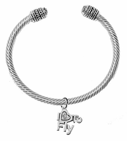 "<br>        ""I LOVE TO FLY"" CRYSTAL HEART CHARM<br>        ADJUSTABLE CABLE CHARM BRACELET<br>         WITH GENUINE CLEAR CRYSTAL ENDS<br>         NICKLE, LEAD, AND CADMIUM FREE <br>              W1907B22 �2018  $11.38 EACH"