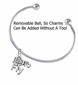 "<br>       ""I LOVE TO FLY"" CRYSTAL HEART CHARM<br>     ADJUSTABLE WIRE CHARM BRACELET WITH<br>        REMOVABLE BALL ENDS, ADD CHARMS<br> WITHOUT TOOLS. W1907B8 $10.38 EACH �2018"
