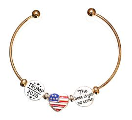 <BR><B>NEW! TRUMP 2020 ADJUSTABLE, SILVER/GOLD TONE</b><BR> CHARM BRACELET, BALL END SCREW BALL BRACELET, ADD<BR> OR REMOVE CHARMS WITHOUT TOOLS, HYPOALLERGENIC-SAFE. NO NICKEL,<BR> NO LEAD, NO POISONOUS CADMIUM. W196-197-198B61  $8.99 EACH