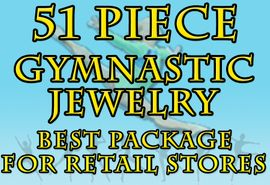 W19999JA - 51 PIECE GYMNASTIC <Br>JEWELRY ASSORTMENT FOR GYMS <br>              AND RETAIL STORES <BR>     YOUR LOW PRICE IS $250.34