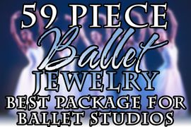 W20021JA - 59 PIECE BALLET JEWELRY <BR>ASSORTMENT FOR BALLET STUDIOS, <BR> DANCE STUDIOS AND RETAIL STORES <BR>      YOUR LOW PRICE IS $321.19