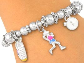 W2003B - RUNNING - JOGGER<BR>     STRETCH BRACELET FROM<bR>                  $3.35 TO $7.50