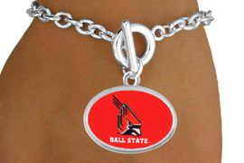 """<Br>          LEAD & NICKEL FREE!!<Br>            OFFICIALLY LICENSED!! <bR>W20681B - LICENSED BALL STATE <Br>UNIVERSITY """"CARDINALS"""" BRACELET <BR>           FROM $3.94 TO $8.75"""
