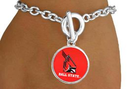 """<Br>          LEAD & NICKEL FREE!!<Br>            OFFICIALLY LICENSED!! <bR>W20684B - LICENSED BALL STATE <Br>UNIVERSITY """"CARDINALS"""" BRACELET <BR>           FROM $3.94 TO $8.75"""