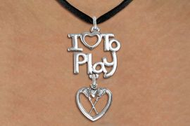"<br>      WHOLESALE SPORTS FASHION NECKLACE <bR>                    EXCLUSIVELY OURS!!<BR>               AN ALLAN ROBIN DESIGN!!<BR>         CADMIUM, LEAD & NICKEL FREE!!<BR>     W20750N - BEAUTIFUL SILVER TONE <Br>""I LOVE TO PLAY"" & LACROSSE HEART CHARM <BR>    NECKLACE FROM $4.64 TO $8.75 �2013"