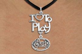 "<br>      WHOLESALE MUSIC FASHION NECKLACE <bR>                    EXCLUSIVELY OURS!!<BR>               AN ALLAN ROBIN DESIGN!!<BR>         CADMIUM, LEAD & NICKEL FREE!!<BR>     W20756N - BEAUTIFUL SILVER TONE <Br>""I LOVE TO PLAY"" & MUSIC BAR CHARM <BR>    NECKLACE FROM $4.64 TO $8.75 �2013"