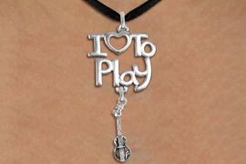 "<br>      WHOLESALE MUSIC FASHION NECKLACE <bR>                    EXCLUSIVELY OURS!!<BR>               AN ALLAN ROBIN DESIGN!!<BR>         CADMIUM, LEAD & NICKEL FREE!!<BR>     W20759N - BEAUTIFUL SILVER TONE <Br>""I LOVE TO PLAY"" & ACOUSTIC GUITAR CHARM <BR>    NECKLACE FROM $4.64 TO $8.75 �2013"